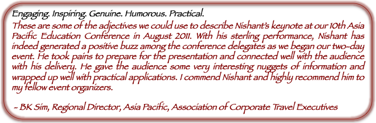 Nishant Kasibhatla                                                 Testimonial